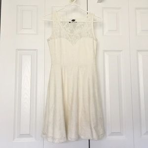 Material girl lace white party dress
